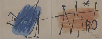 Invitation à l'exposition Joan Miro à la galerie H. Matarasso (Nice) 1957 (Lithographie) - Joan  MIRO