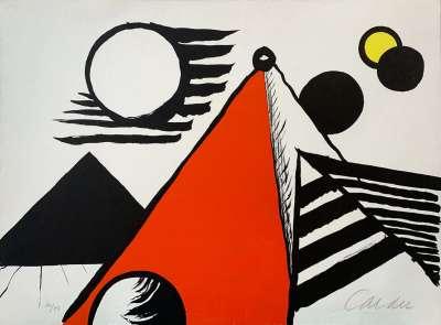 Pyramide Rouge (Lithograph) - Alexander CALDER