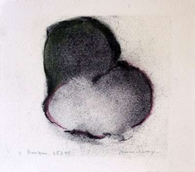 Deux fruits (Charcoal) - Jean-Jacques  DOURNON