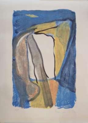 Composition bleue jaune (Lithographie) - Bram   VAN VELDE