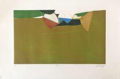 Paysage n°5 (Aquatint) - Bertrand DORNY