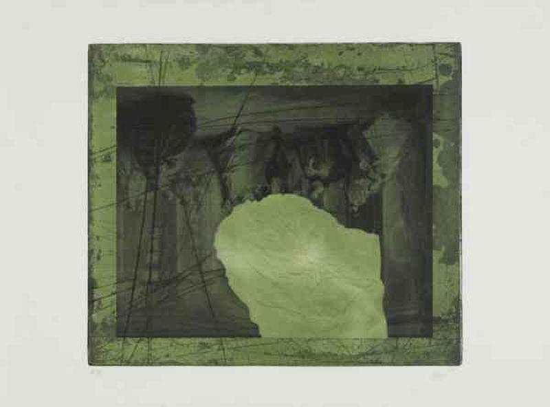 En Noir et Vert (Aquatinte et carborundum) - Antoni CLAVE