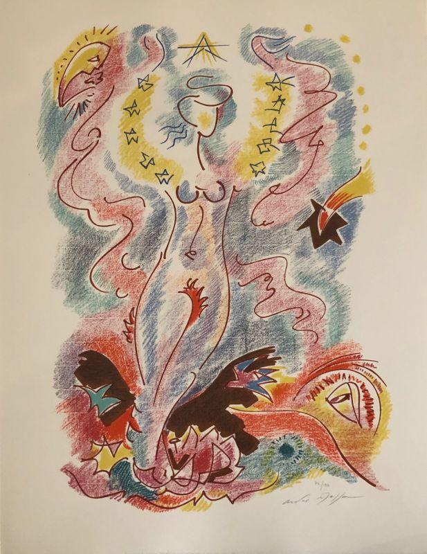 Sonnets de Louise Labé (Lithographie) - André  MASSON