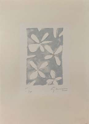 Fleurs (Farblithographie) - Georges BRAQUE