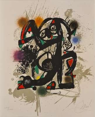 Miro Lithographe III planche 7 (Lithographie) - Joan  MIRO