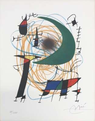 Miro Lithographe I planche 7 (Lithographie) - Joan  MIRO