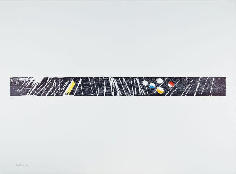 H 1973-23 (Wood engraving) - Hans HARTUNG