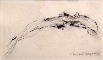 L'effacement (Fusain) - Jean-Jacques  DOURNON