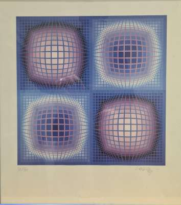 Composition cinétique (Siebdruck) - Victor  VASARELY