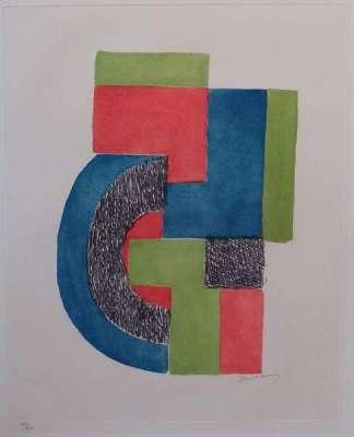 TOTEM (Eau-forte) - Sonia DELAUNAY-TERK