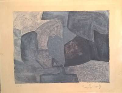 Composition grise (Lithograph) - Serge  POLIAKOFF