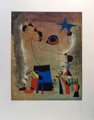Le chien bleu (Eau-forte) - Joan  MIRO