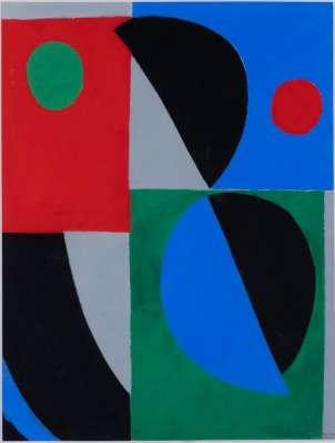 Poesie des mots poésie des couleurs (Pochoir) - Sonia DELAUNAY-TERK