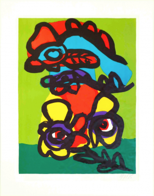 Personnages (Farblithographie) - Karel APPEL