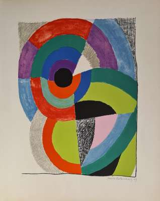 Composition orphique (Farblithographie) - Sonia DELAUNAY-TERK