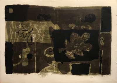 Feuille d'Automne (Lithograph) - Antoni CLAVE