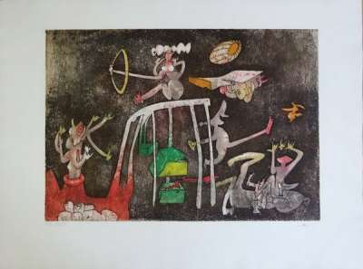 Tribute to the Nobel Prizes (Etching and aquatint) - Roberto  MATTA