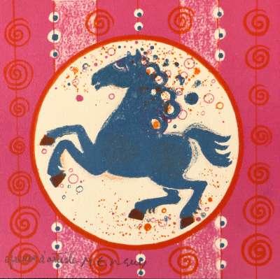 Horse (Greetings card) - Frédéric MENGUY