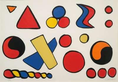 Composition aux formes géométriques (Lithographie) - Alexander CALDER