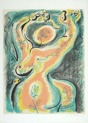 The metamorphosis of the woman (Lithograph) - André  MASSON