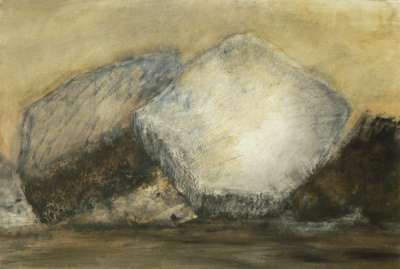 Rochers (Oil on paper) - Véronique NEROU