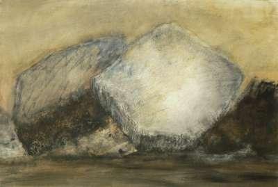 Rochers (Huile sur papier) - Véronique NEROU