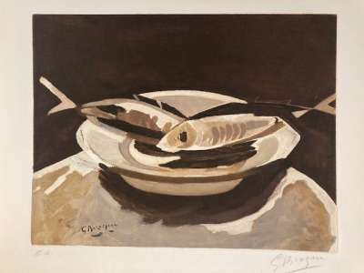 The Fishes (Etching) - Georges BRAQUE