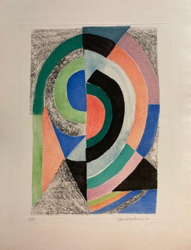 Demi-cercles (Eau-forte et aquatinte) - Sonia DELAUNAY-TERK