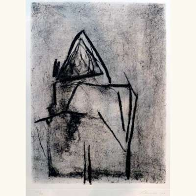 Sans titre (Etching and aquatint) - Giuseppe  SANTOMASO