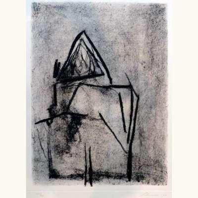 Sans titre (Eau-forte et aquatinte) - Giuseppe  SANTOMASO