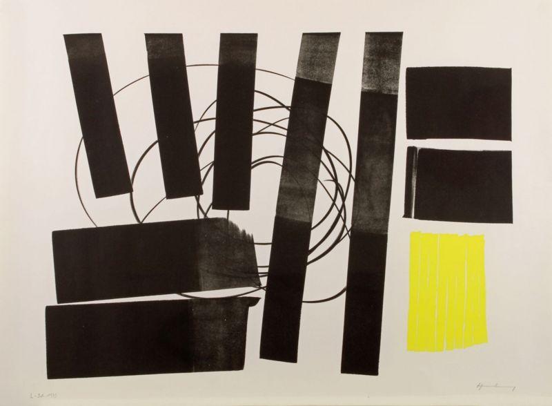 L 1973-31 Hommage à Picasso (Lithographie) - Hans HARTUNG
