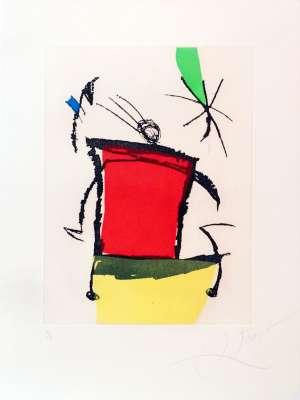Le Chanteur des rues V (Eau-forte et aquatinte) - Joan  MIRO