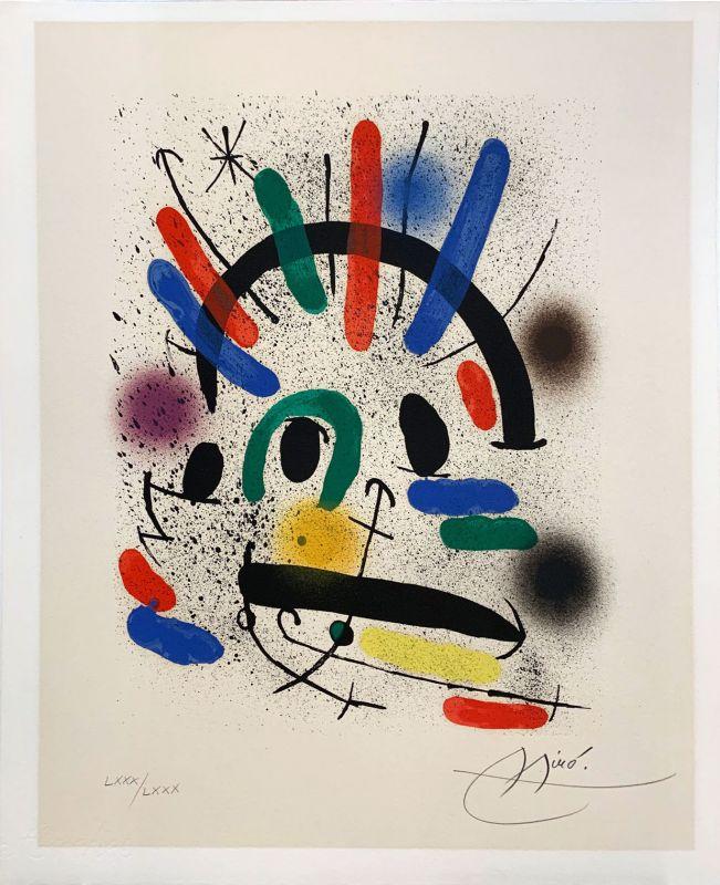 Miro Lithographe I planche 3 (Lithographie) - Joan  MIRO