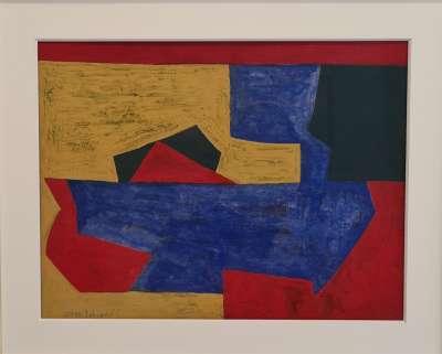 Composition abstraite (Gouache) - Serge  POLIAKOFF