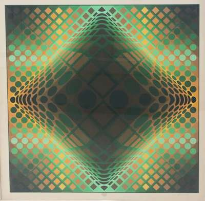 Composition cinétique (Siebdruck) - Victor  VASARELY