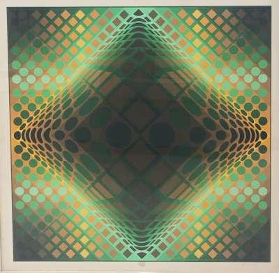 Composition cinétique (Sérigraphie) - Victor  VASARELY