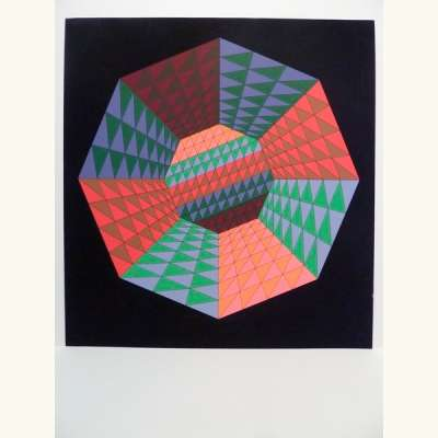 Heisenberg (Sérigraphie) - Victor  VASARELY