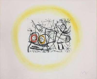 Préparatif d'oiseaux II (Eau-forte et aquatinte) - Joan  MIRO